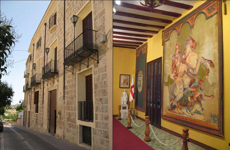 Exterior e interior del Casal de Sant Jordi