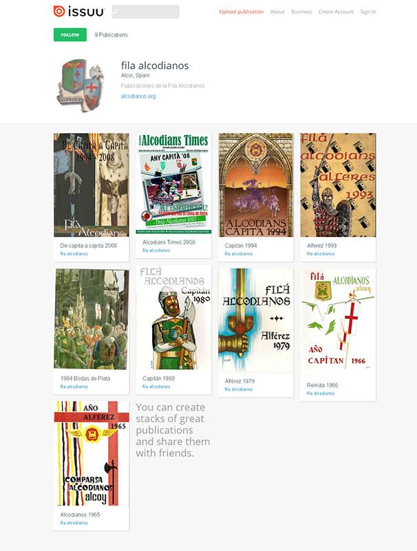 Revistas de la filá Alcodianos desde 1965