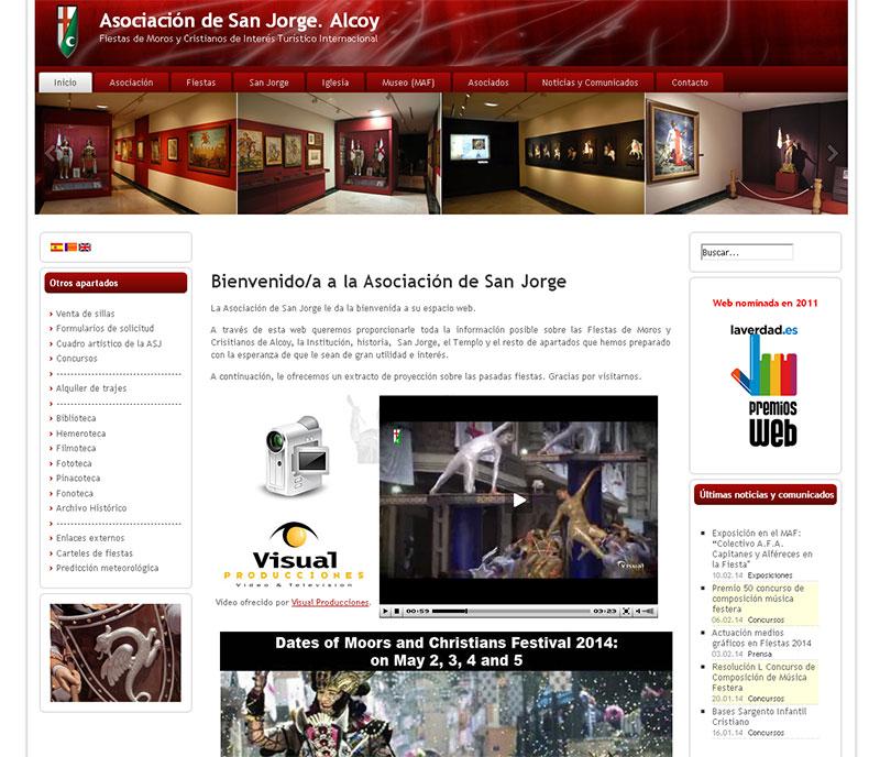 Página Web de la Asociación de San Jorge